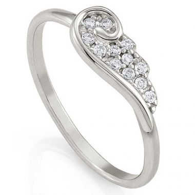 NOMINATION ANGEL WING RING IN SILVER