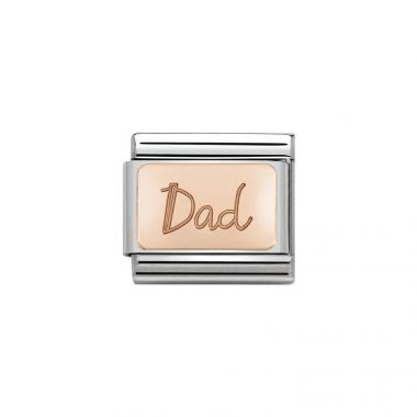 NOMINATION COMPOSABLE CLASSIC DAD LINK IN ROSE GOLD