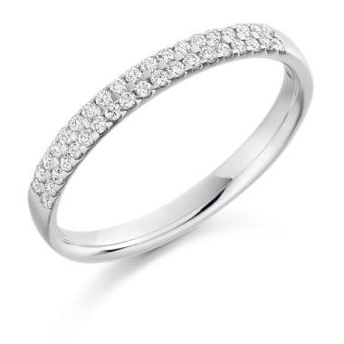 18CT WHITE GOLD DIAMOND WEDDING RING