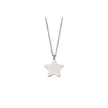 LITTLE STAR PLAIN LARGE STAR PENDANT AND CHAIN