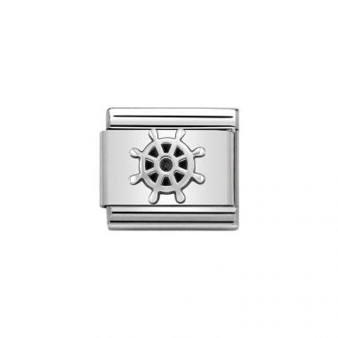 NOMINATION COMPOSABLE CLASSIC SILVER BOAT WHEEL LINK