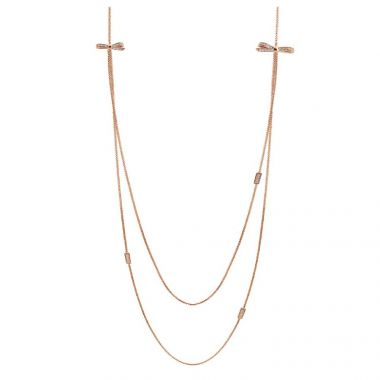 NOMINATION MY CHERIE LAYERED ROSE GOLD BOW NECKLACE