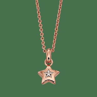 LITTLE STAR REI DIAMOND ROSE GOLD STAR NECKLACE
