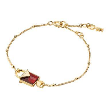MICHAEL KORS PADLOCK BRACELET IN YELLOW GOLD