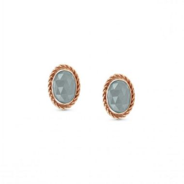 NOMINATION ROSE GOLD EARRINGS WITH NATURAL GEMSTONE 'LIGHT BLUE'