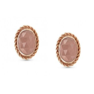 NOMINATION 9CT ROSE GOLD AND APRICOT CHALCEDONY OVAL