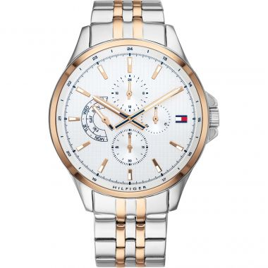 TOMMY HILFIGER SHAWN GENT'S WHITE DIAL WATCH