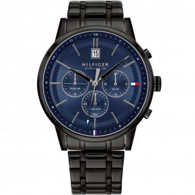 TOMMY HILFIGER KYLE DATE CHRONOGRAPH BLACK AND BLUE 1791633