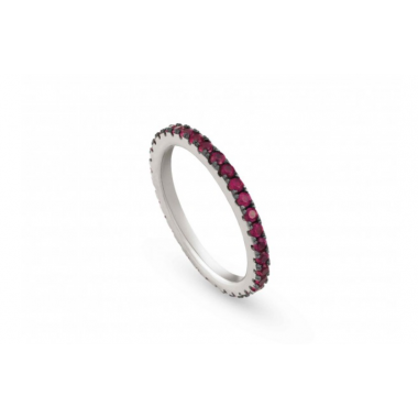 NOMINATION EASYCHIC RING WITH RED CUBIC ZIRCONIA