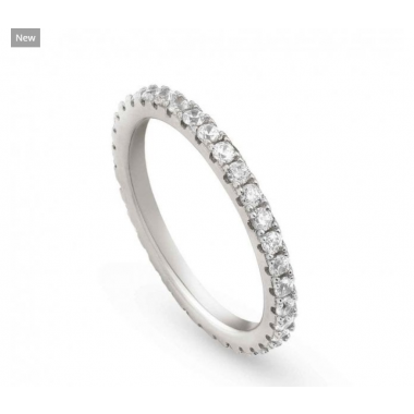 NOMINATION EASYCHIC SILVER RING WITH WHITE CZ