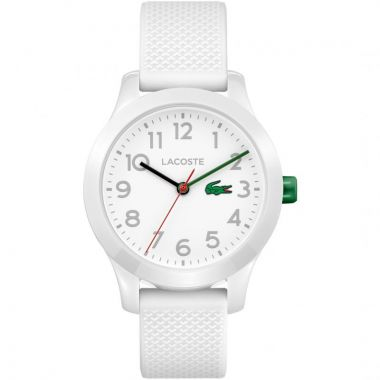 LACOSTE 12.12 CHILDREN'S ANALOGUE WATCH IN WHITE