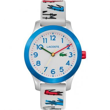 LACOSTE 12.12 CHILDREN'S ANALOGUE WATCH IN PRINTED WHITE