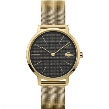 LACOSTE LADIES MOON GOLD PLATED MESH WATCH