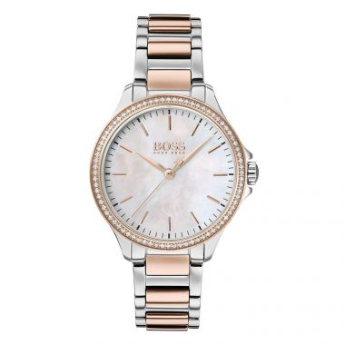 BOSS LADIES' DIAMONDS FOR HER TWO TONE WATCH
