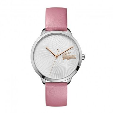 LACOSTE LADIES PINK LEATHER LEXI WATCH