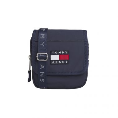 TOMMY JEANS HERITAGE FLAP XOVER BAG IN BLACK IRIS