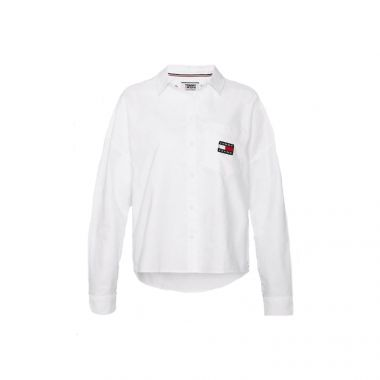 TOMMY JEANS BADGE SHIRT IN WHITE