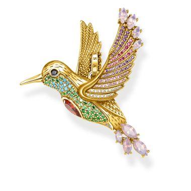 THOMAS SABO PENDANT COLOURFUL HUMMINGBIRD GOLD