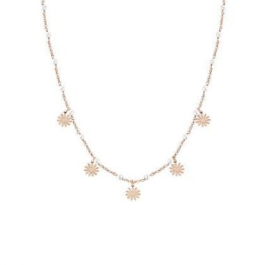 NOMINATION MON AMOUR DAISY ROSE GOLD NECKLACE WITH PEARLS