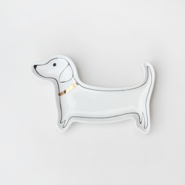 CAROLINE GARDNER SAUSAGE DOG TRINKET TRAY