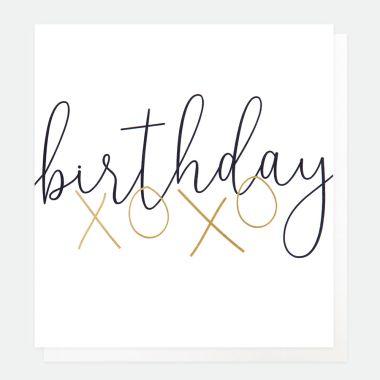 CAROLINE GARDNER BIRTHDAY XOXO CARD