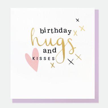 CAROLINE GARDNER BIRTHDAY HUGS AND KISSES CARD