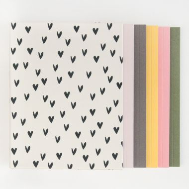 CAROLINE GARDNER MINI HEARTS BOX OF 5 NOTEBOOKS