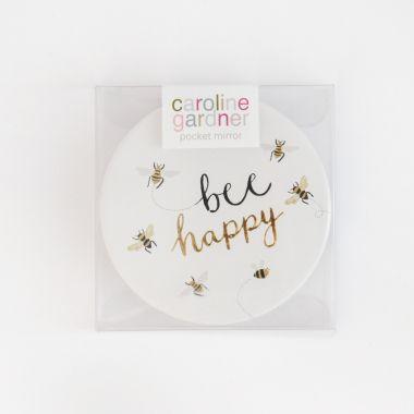 CAROLINE GARDNER BEE HAPPY POCKET MIRROR