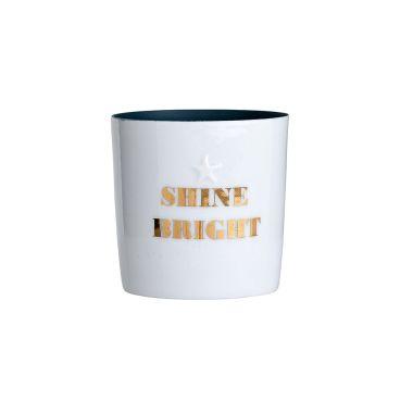 BLOOMINGVILLE SHINE BRIGHT CERAMIC TEALIGHT HOLDER