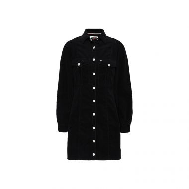 TOMMY JEANS CORDUROY FITTED SHIRT DRESS