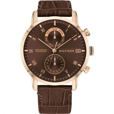 TOMMY HILFIGER GENT'S KANE CHRONOGRAPH LEATHER WATCH