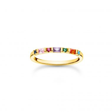 THOMAS SABO RING COLOURFUL STONES GOLD