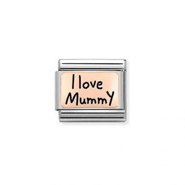 NOMINATION CLASSIC COMPOSABLE ROSE GOLD I LOVE MUMMY