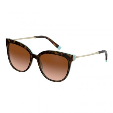 TIFFANY & CO. HAVANA ON TIFFANY BLUE WITH BROWN GRADIENT LENS