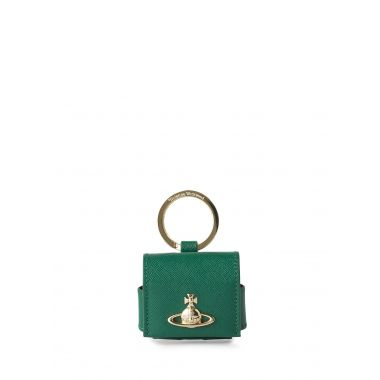 VIVIENNE WESTWOOD VICTORIA LARGE ROUNDED AIRPOD PRO CASE IN GREEN