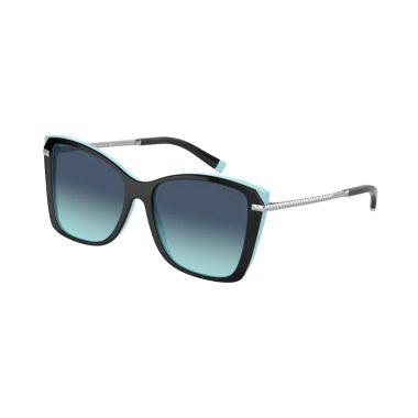TIFFANY & CO. BLACK ON TIFFANY BLUE SUNGLASSES 0TF418080559S