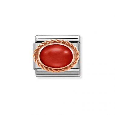NOMINATION CLASSIC COMPOSABLE ROSE GOLD RED CORAL LINK