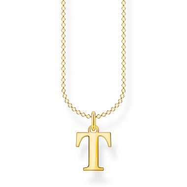 THOMAS SABO GOLD LETTER T NECKLACE