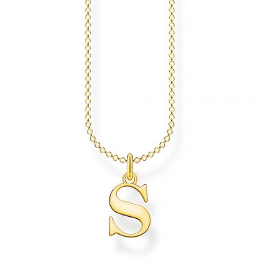 THOMAS SABO GOLD LETTER S NECKLACE