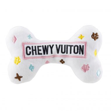 WHITE CHEWY VUITON BONE - LARGE