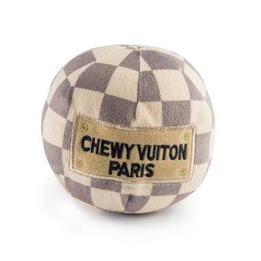 CHECKER CHEWY VUITON BALL - LARGE