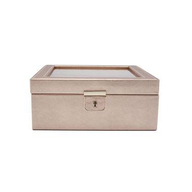 WOLF PALERMO 6 PIECE WATCH BOX ROSE GOLD