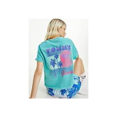 TOMMY JEANS PALM TREE BACK GRAPHIC T-SHIRT