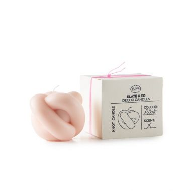 ELATE & CO KNOT CANDLE PINK