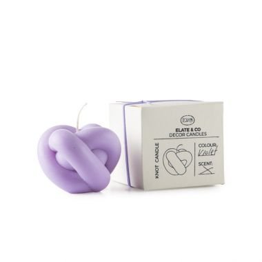 ELATE & CO KNOT CANDLE VIOLET