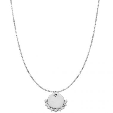 CHLOBO PERSONALISED DELICATE BOX CHAIN STAR NECKLACE
