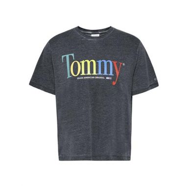 TOMMY JEANS RELAXED COLOUR T-SHIRT BLACK