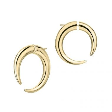SHAUN LEANE QUILL VERMEIL YELLOW GOLD LARGE HOOP EARRING