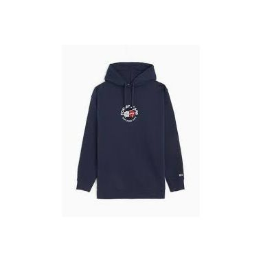 TOMMY JEANS RELAXED FIT HOODIE IN TWILIGHT NAVY