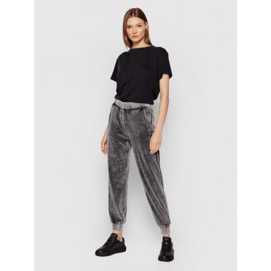 CALVIN KLEIN WASHED VELEVT JOGGERS GREY